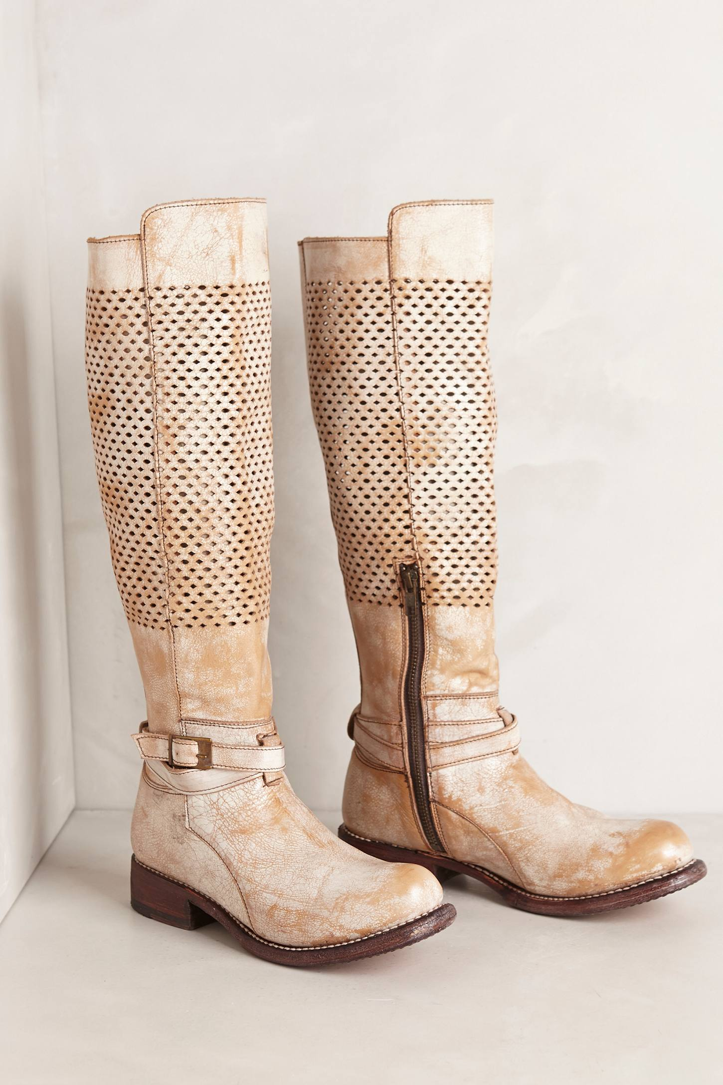 bed stu biltmore high boots in white | lyst