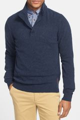 Ben Sherman Funnel Neck Henley Sweater - Lyst