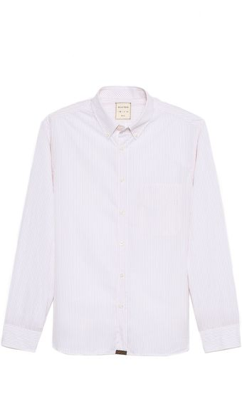 Billy Reid Rosedale Fine Stripe Shirt - Lyst
