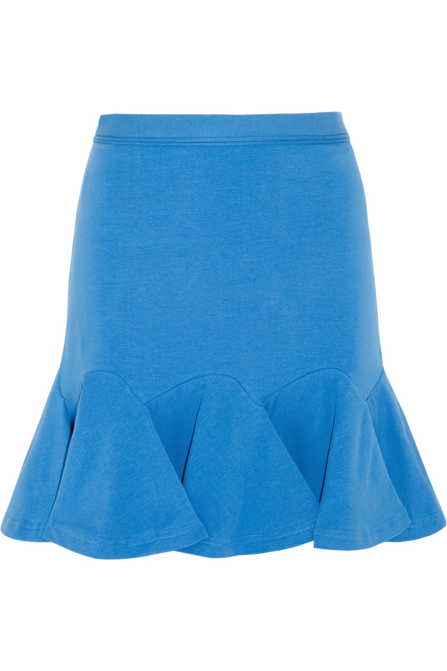 Carven Flared Stretch-cotton Mini Skirt in Blue | Lyst