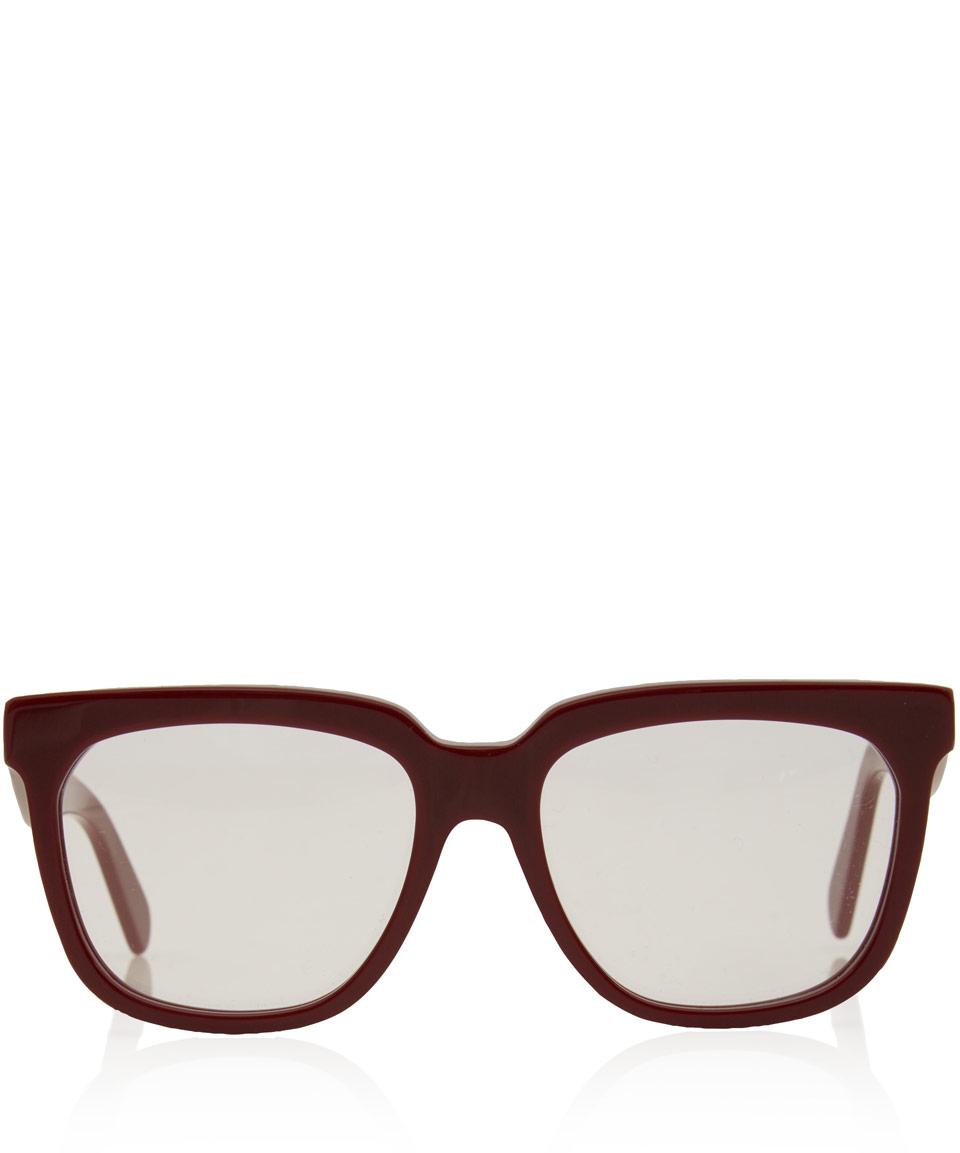 43e6c19a3670 Lyst - Céline Radical Acetate Glasses in Red