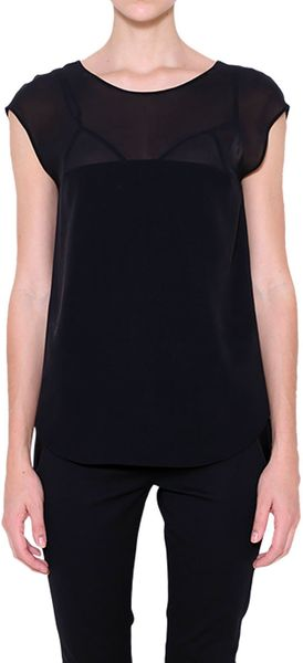 Costume National Silk Top with Lingerie Detail - Lyst