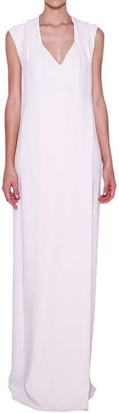 Costume National Vneckline Viscose Long Dress - Lyst