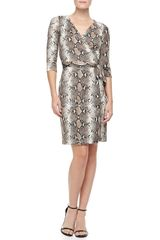 Diane Von Furstenberg New Julian Two Pythonprint Silk Jersey Dress - Lyst