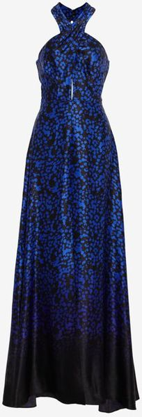 Exclusive For Intermix Printed Silk Keyhole Gown - Lyst