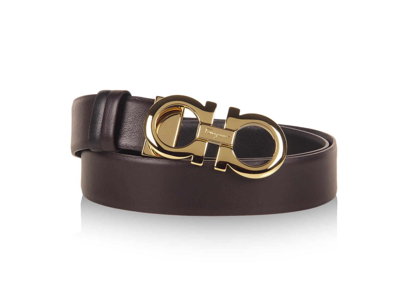 ferragamo adjustable and reversible belt in brown lyst