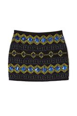 Forever 21 Shine On Beaded Mini Skirt - Lyst