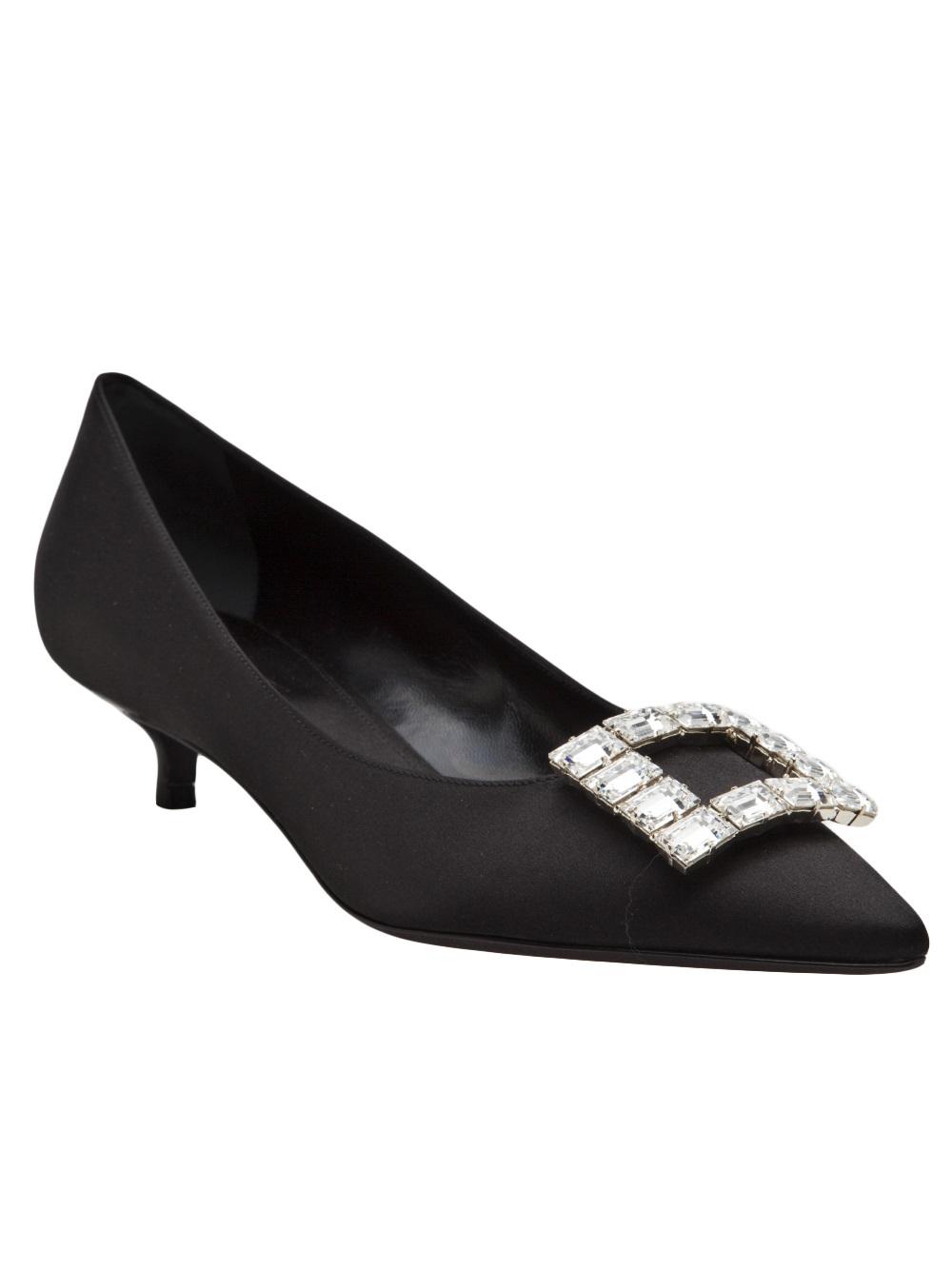 Jeweled Kitten Heel Shoes