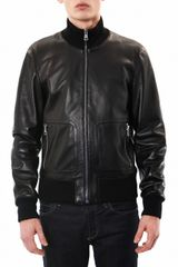 Gucci Leather Bomber Jacket - Lyst