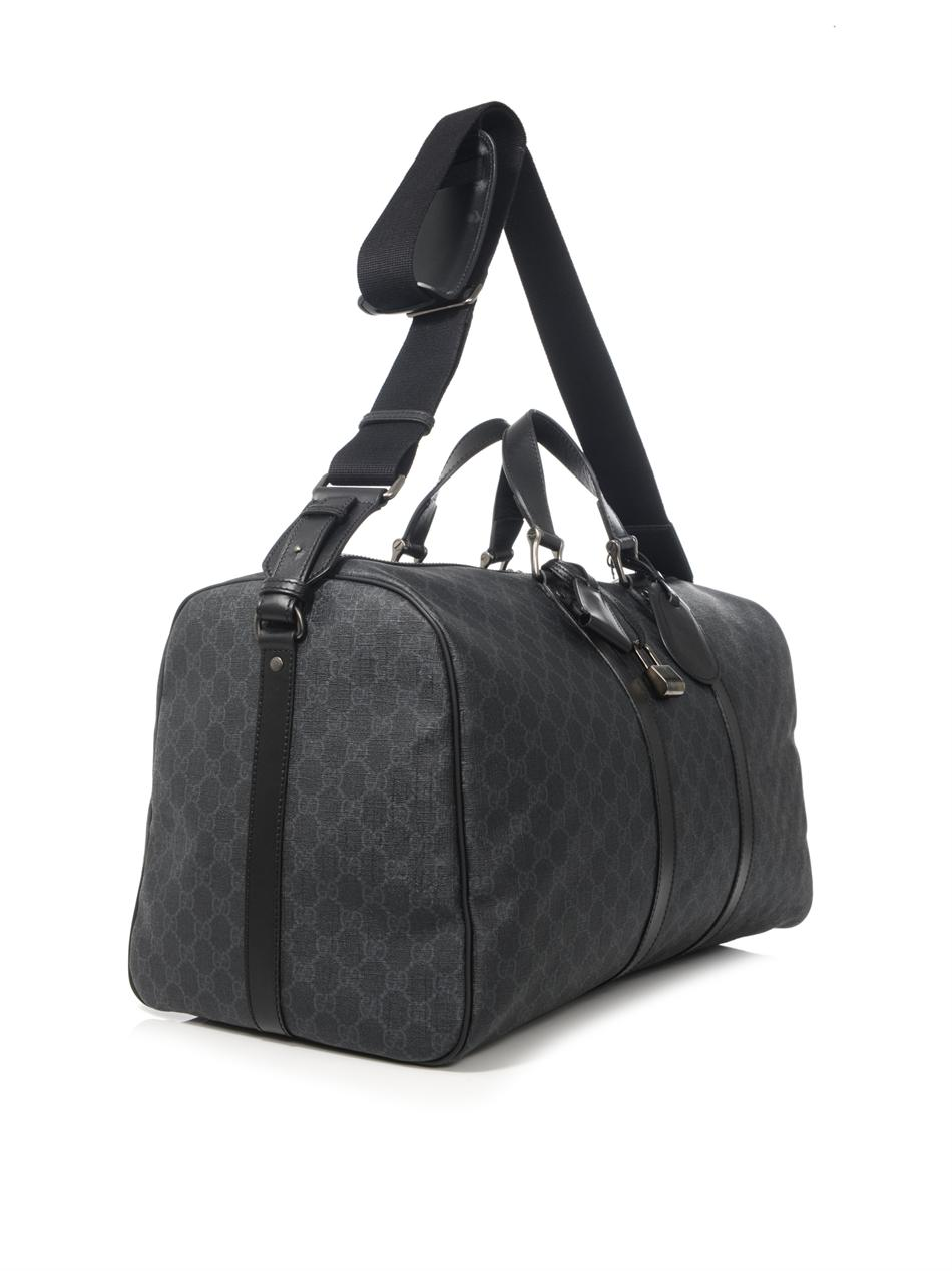 Gucci Gg Logoprint Travel Bag In Gray For Men Lyst