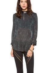 Haute Hippie Long Sleeve Blouse - Lyst