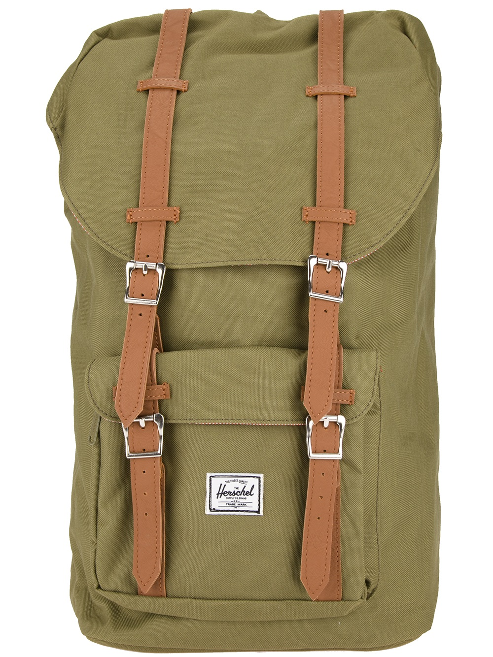 Lyst - Herschel Supply Co. Buckled Backpack in Green for Men 6161aefb39
