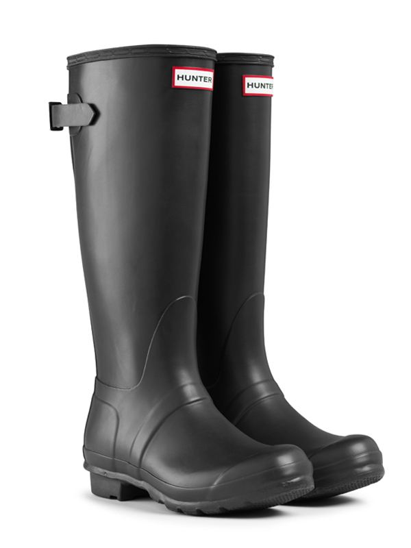 Hunter Colorblock Back Adjustable Rain Boots in Black | Lyst