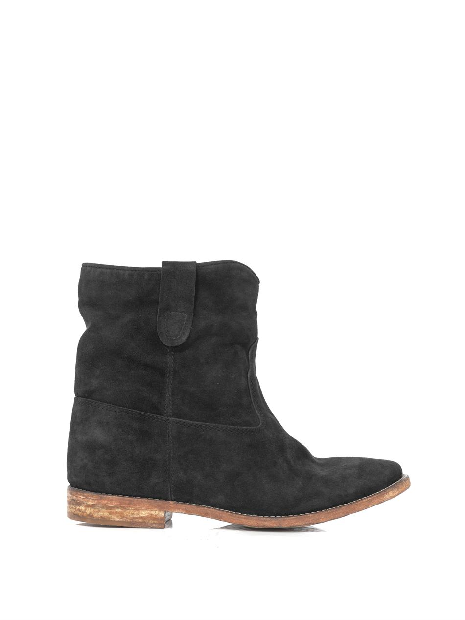 isabel marant crisi suede boots in black lyst. Black Bedroom Furniture Sets. Home Design Ideas