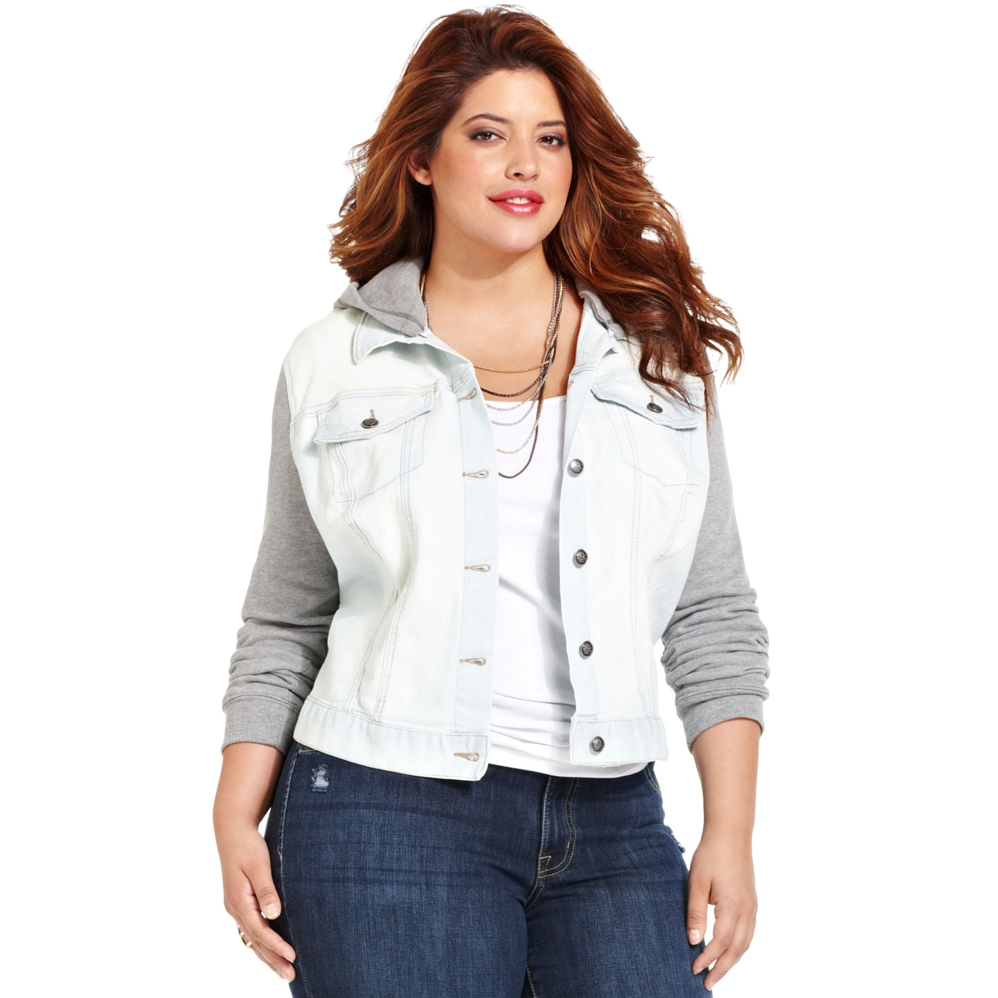 White Jean Jacket Plus Size Ye Jean