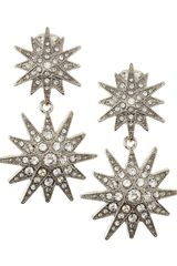 Kenneth Jay Lane Pave Starburst Clipon Earrings - Lyst