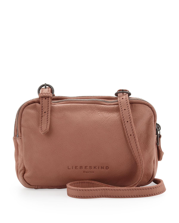 liebeskind maike b leather crossbody bag flesh in pink flesh lyst. Black Bedroom Furniture Sets. Home Design Ideas