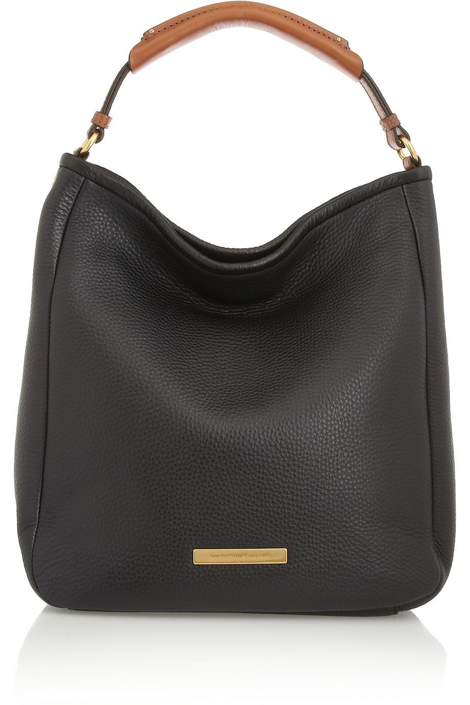 marc by marc jacobs softy saddle hobo texturedleather shoulder bag in black lyst. Black Bedroom Furniture Sets. Home Design Ideas