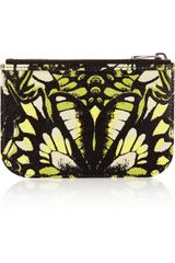 McQ by Alexander McQueen Butterflyprint Leather Coin Purse - Lyst
