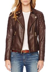 Michael by Michael Kors Quilted Leather Jacket