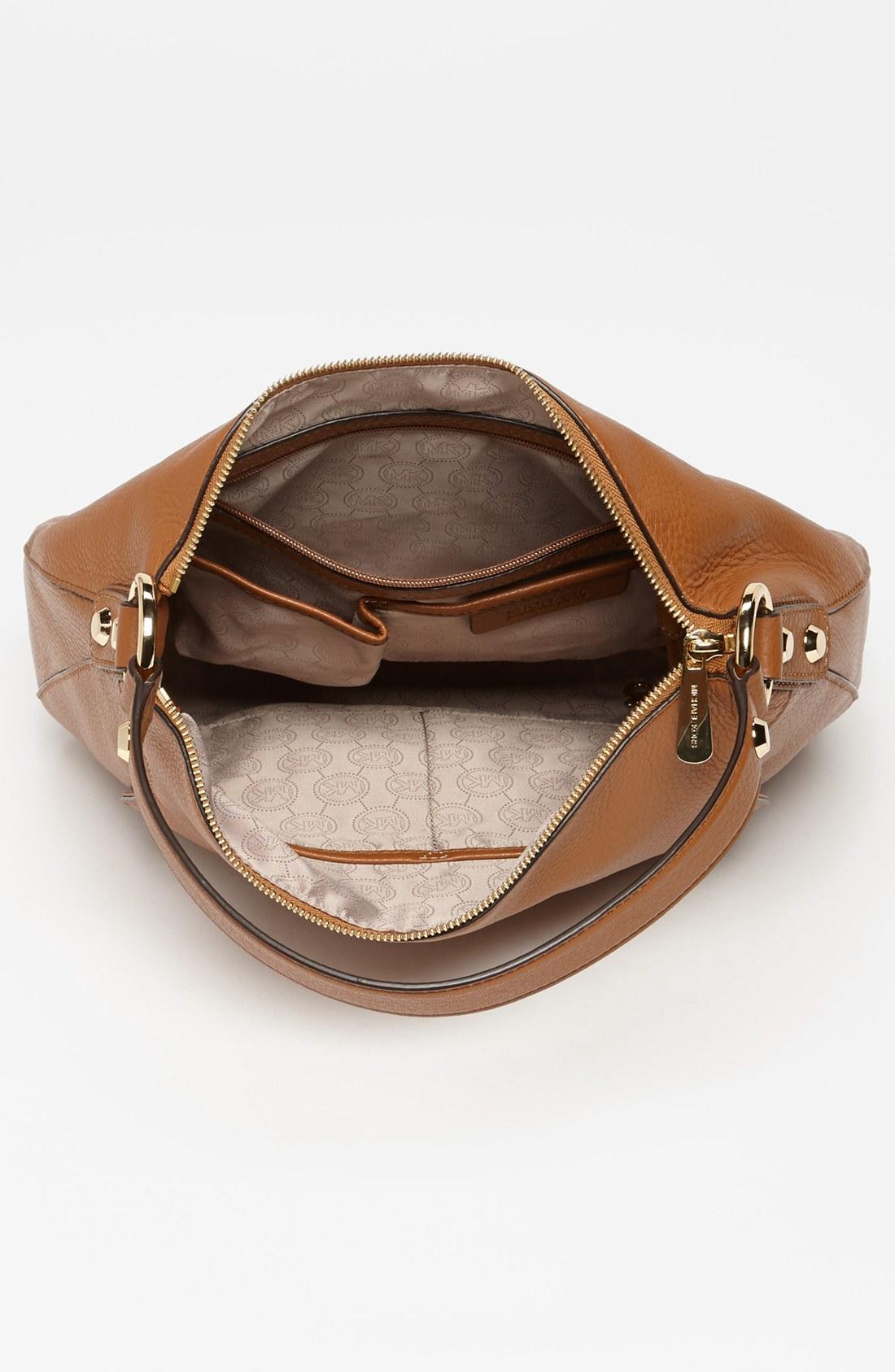 lyst michael michael kors fulton large shoulder bag in brown. Black Bedroom Furniture Sets. Home Design Ideas