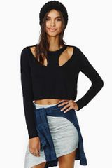 Nasty Gal Front Line Crop Sweater - Lyst