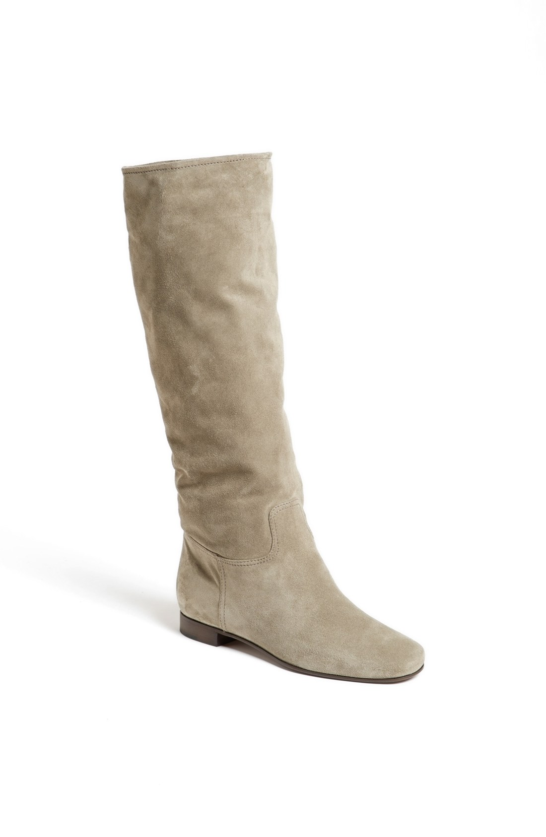 prada suede boot in gray lyst