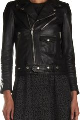 Saint Laurent Leather Moto Jacket - Lyst