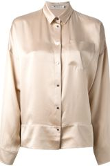 T By Alexander Wang Satin Shirt - Lyst