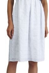 Thakoon Crossover Bodice Eyelet-skirt Dress - Lyst