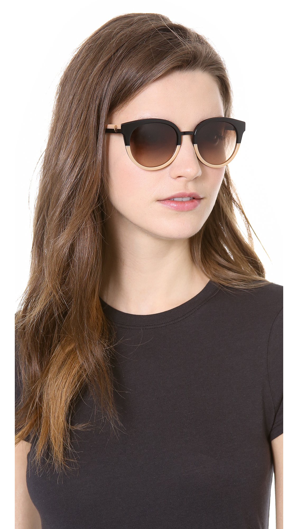 48d9957adb Lyst - Tory Burch Eclectic Sunglasses in Black
