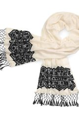 Tory Burch Lace Embroidered Scarf - Lyst