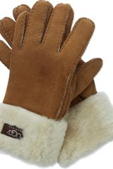 Ugg Turn Up Gloves - Lyst