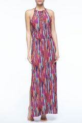 Vix Napo Featherprint Maxi Dress - Lyst
