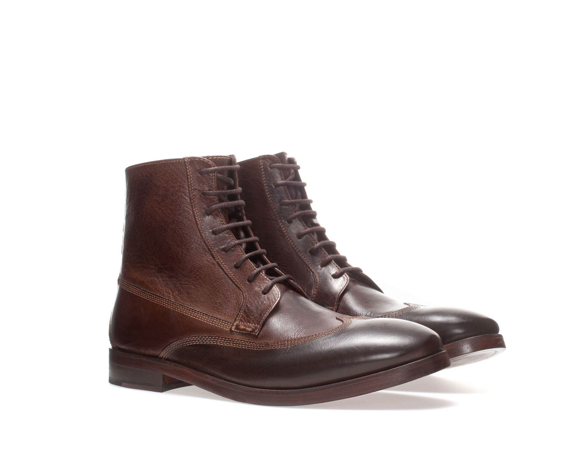 Zara Brushed Boot In Brown For Men Lyst