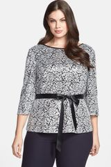 Alex Evenings Embellished Print Blouse - Lyst