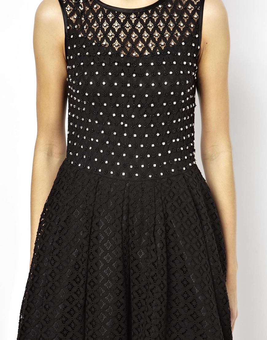 A wear lace skater dress