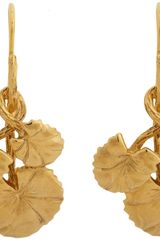 Aurelie Bidermann Nympheas Small Drop Earrings - Lyst