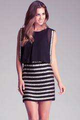 Bebe Beaded Skirt Dress - Lyst
