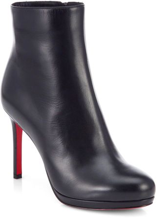 Christian Louboutin Bootylil Leather Ankle Boots - Lyst