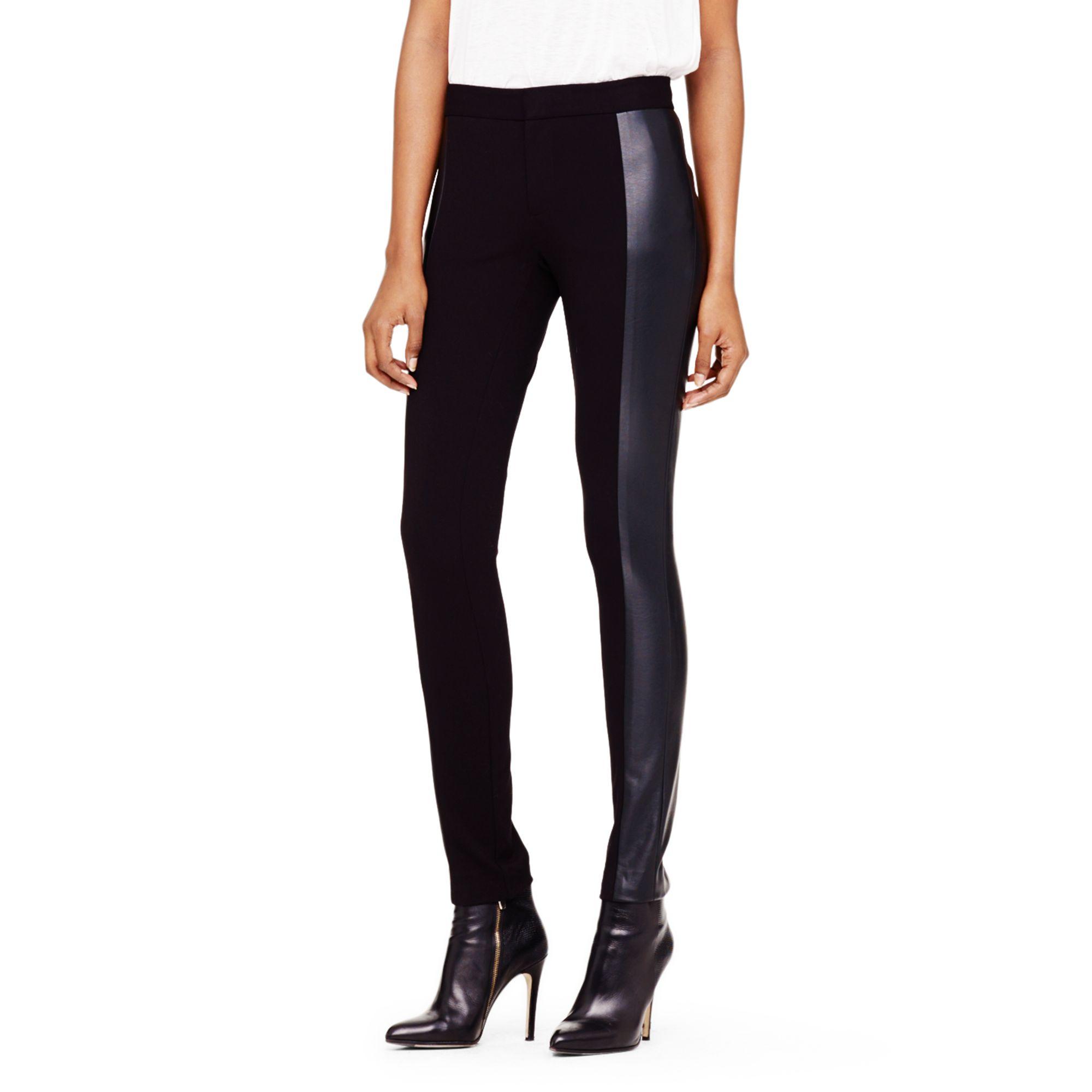 1ef2dd4d762a6 Club Monaco Rochelle Faux-leather Legging in Black - Lyst