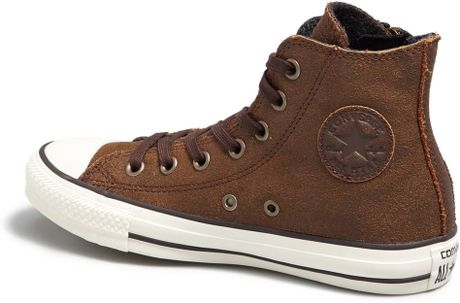Converse Chuck Taylor Aviator Side Zip Leather High Top