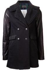 Current/Elliott Longline Pea Coat - Lyst