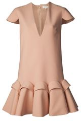 Delpozo Cap Sleeve Dress - Lyst