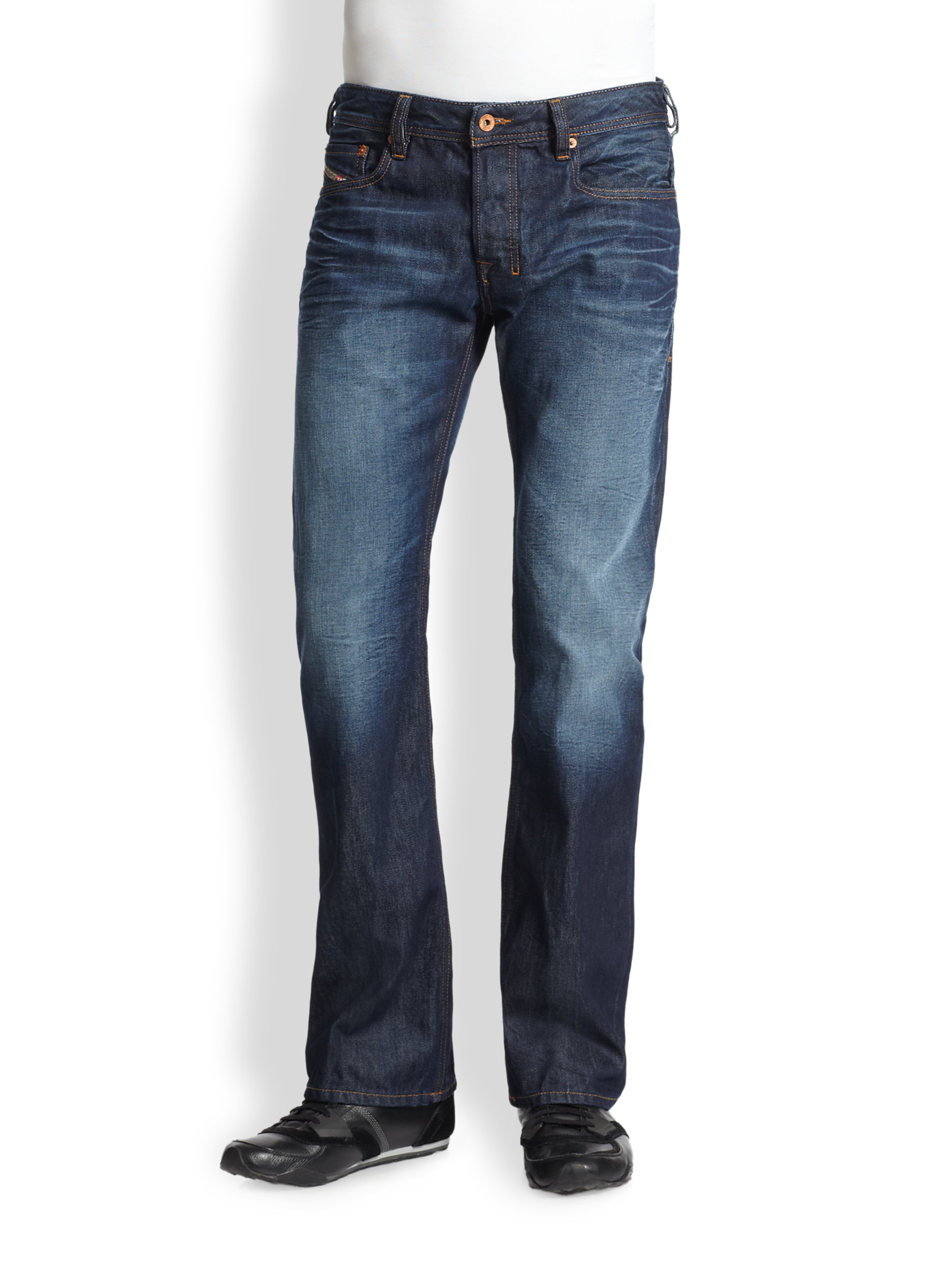 jeans for men new style with big thighs bootcut skinny