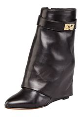 Givenchy Leather Sharklock Foldover Boot - Lyst