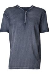 John Varvatos Washed Out Tshirt - Lyst