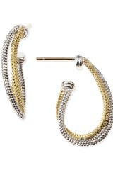 Lagos 18k Silver Twisted Hoop Earrings - Lyst