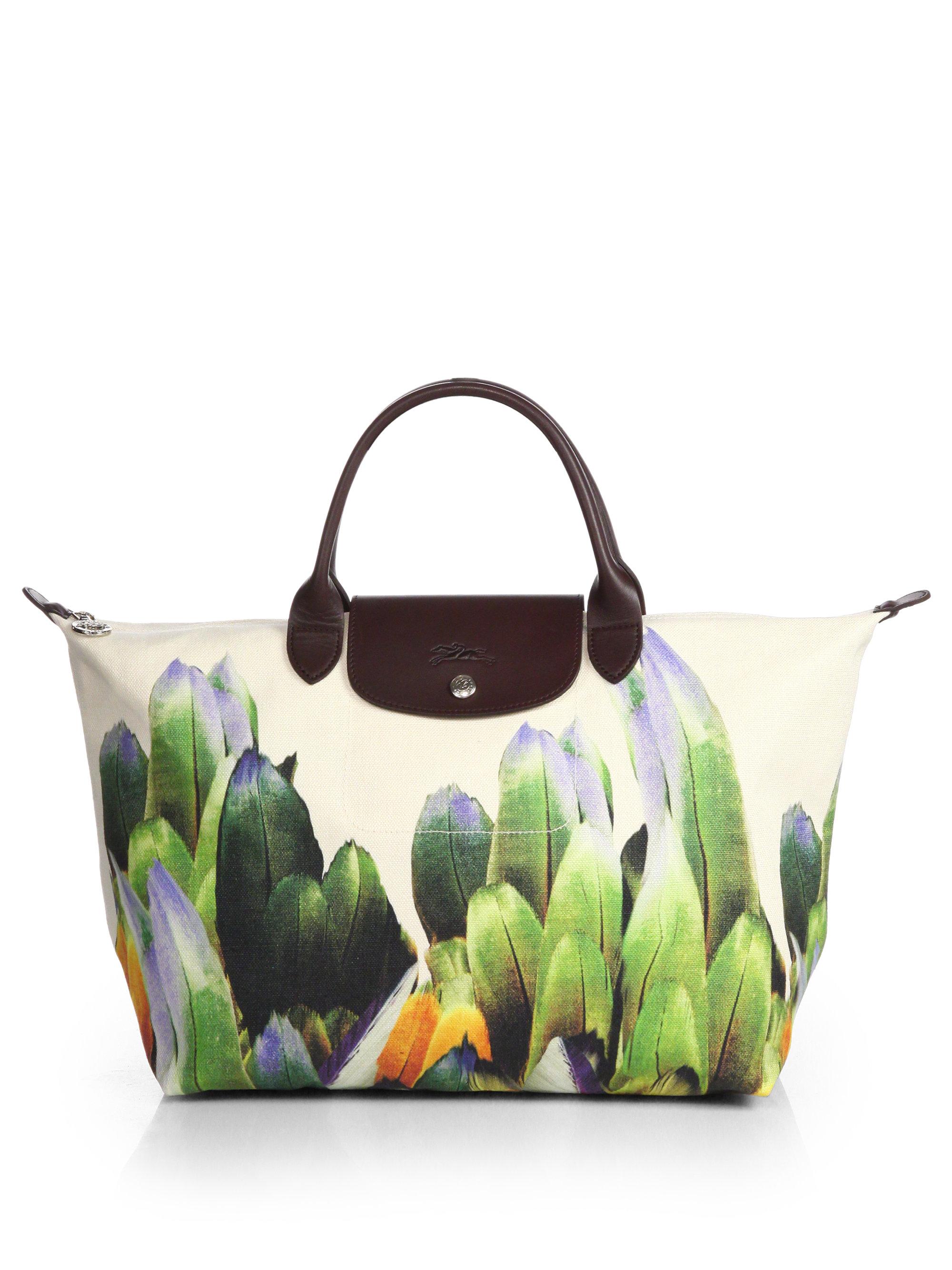 Lyst - Longchamp Tribu Medium Printed Canvas top Handle Bag dd520d8e9c621