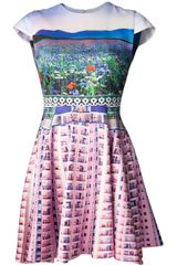 Mary Katrantzou Flower Graphic Dress - Lyst